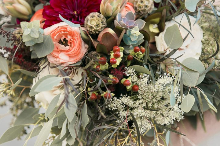 Fall Wedding-River Boat Cruise Wedding- Bouquet-Succulent Bouquet-boho bride bouquet