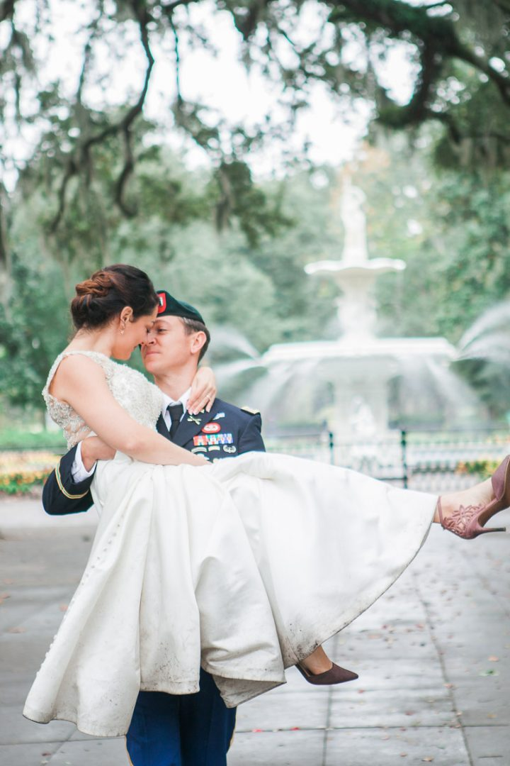 Military Wedding- Forysth Park- Savannah, GA