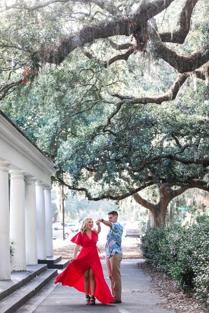 Savannah, Georgia-Engagement Photography-Forsyth Park-