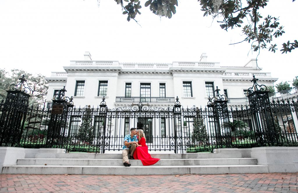 Armstrong House-Savannah, Georgia-Engagement Photography-Forsyth Park